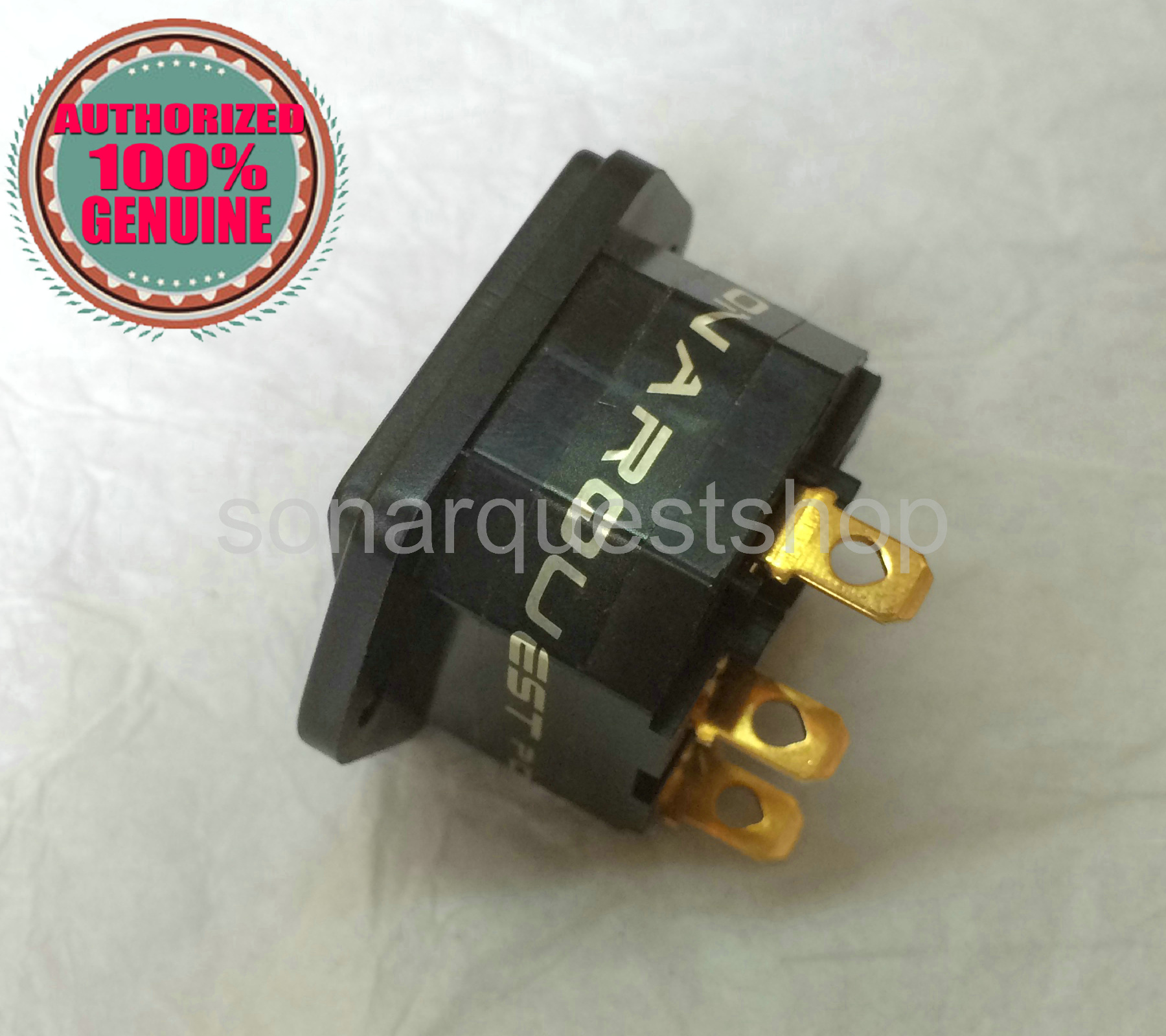 SONARQUET 24K Gold Plated IEC Inlet, fuseholder,Inlets Connector Power