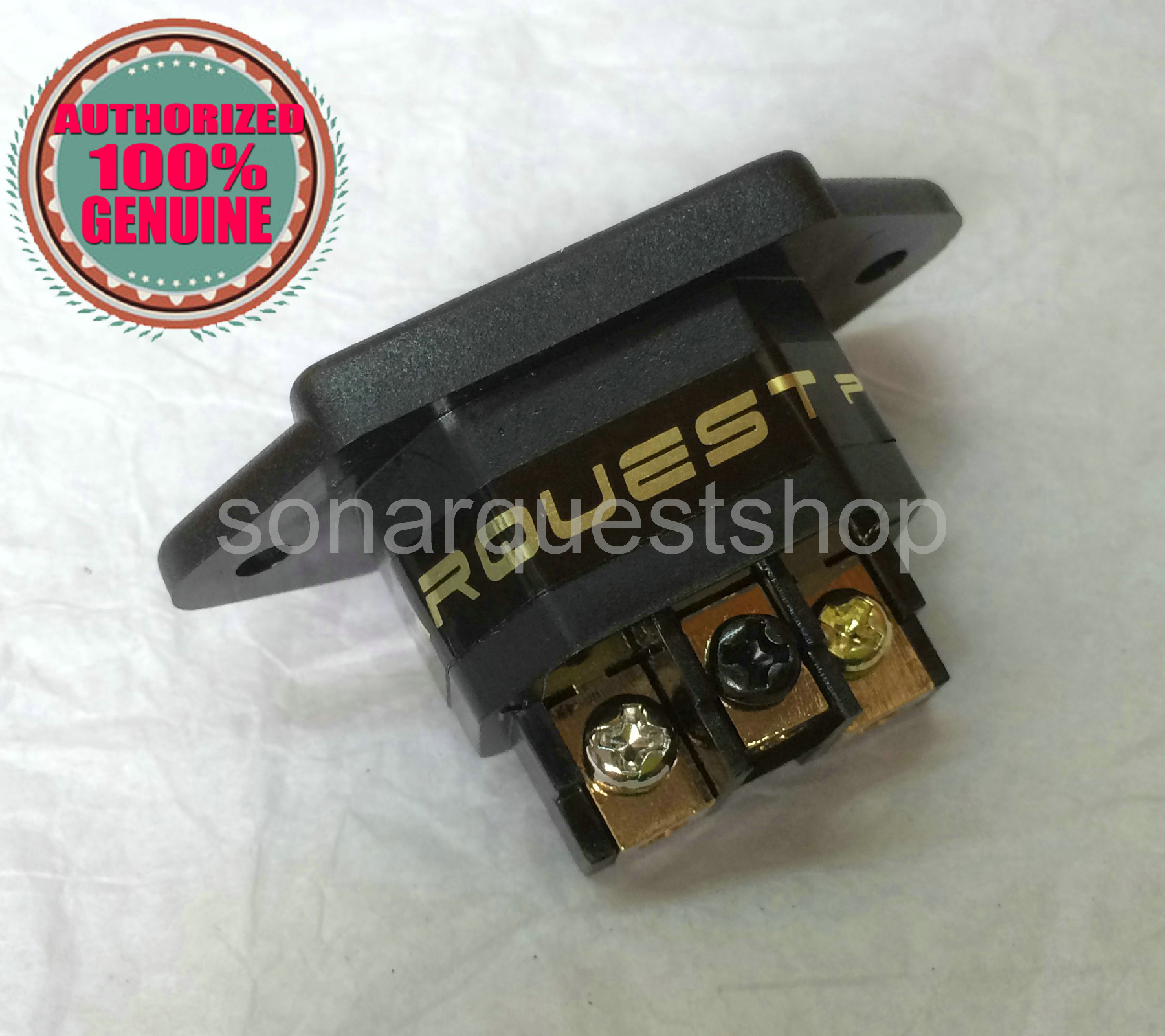 SONARQUEST For Audio 24K Gold Plated IEC AC Inlet, Socket Power no Fuse